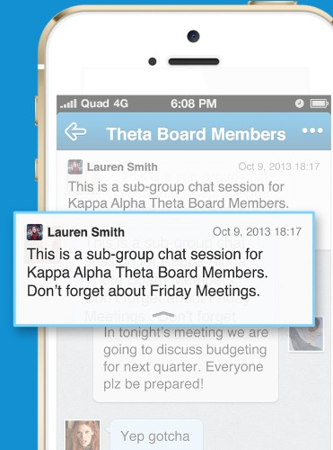 Quad's Mobile Messaging App For College Groups Supports 500-Person Chats