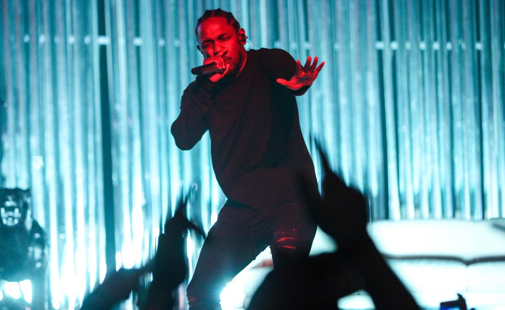 Kendrick Lamar performs at The Wiltern on Wednesday, Nov. 11, 2015, in Los Angeles. (Photo by Rich Fury/Invision/AP)