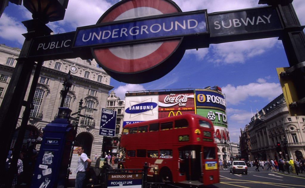 UNITED KINGDOM - 1997/01/01: England, London, Piccadilly Circus, Subway Station And Advertisements. (Photo by Wolfgang Kaehler/LightRocket via Getty Images)
