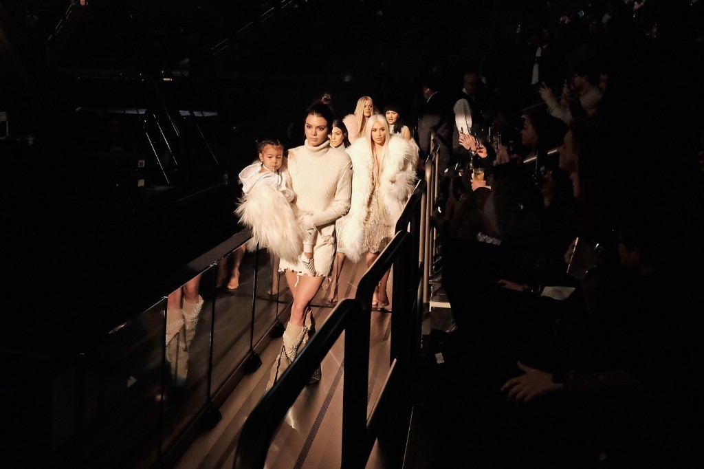 North West, Kendall Jenner, Kourtney Kardashian, Kim Kardashian, Khloe Kardashian and Kylie Jenner attend Kanye West Yeezy Season 3. Dimitrios Kambouris/Getty Images for Yeezy Season 3