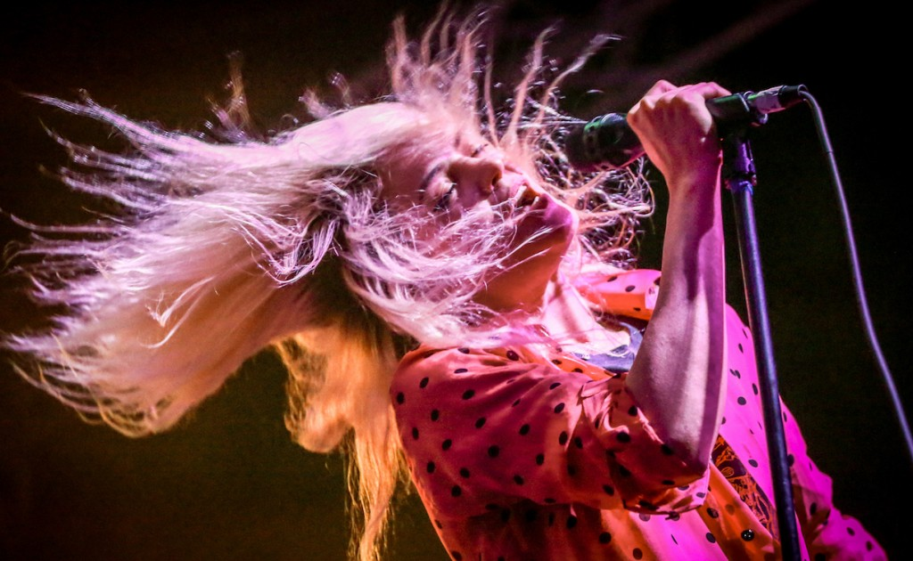 Alison Mosshart of The Kills performs at the Stubhub Showcase at Banger's Sausage House & Beer Garden during South By Southwest on Thursday, March 17, 2016, in Austin, Texas. (Photo by Rich Fury/Invision/AP)