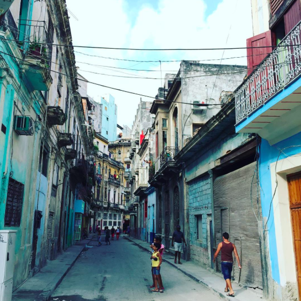 Horowitz captured a street in Cuba shortly after President Barack Obama landed there. Horowitz/Instagram