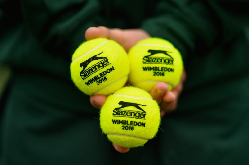 A ball boy holds Wimbledon tennis balls on during the 2016 Wimbledon Qualifying Session on June 22, 2016 in London, England.  (Photo by Justin Setterfield/Getty Images)