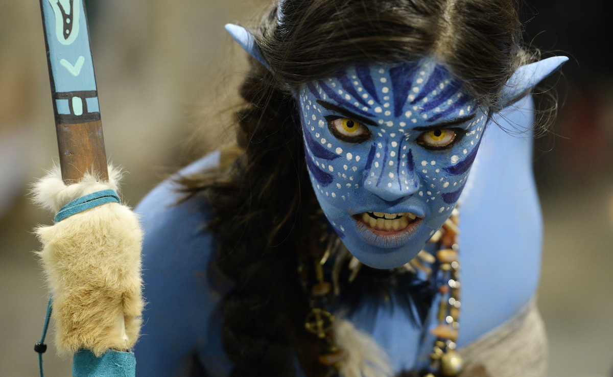 Brittany Ching dressed as the character Avatar at Denver Comic Con at the Colorado Convention Center June 16, 2016. Photo by Andy Cross/The Denver Post via Getty Images