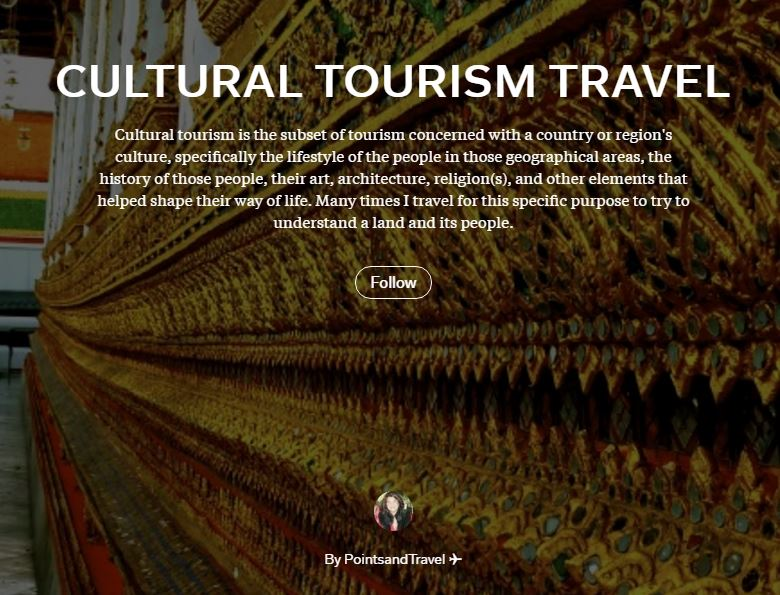 Cultural Tourism Travel Magazine Description