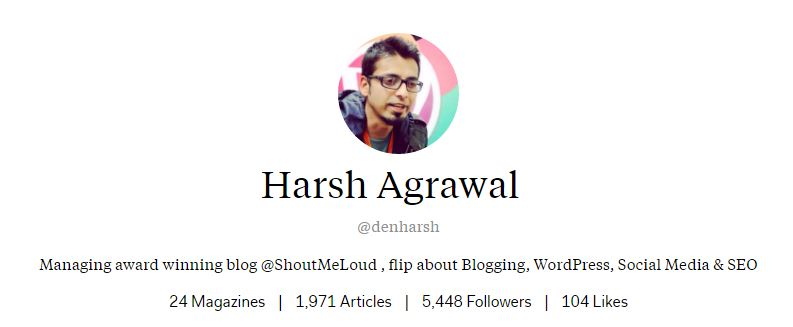 Harsh Agrawal Bio