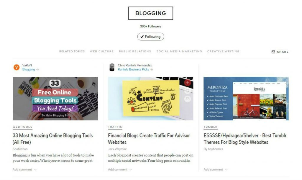 Blogging Topic on Flipboard