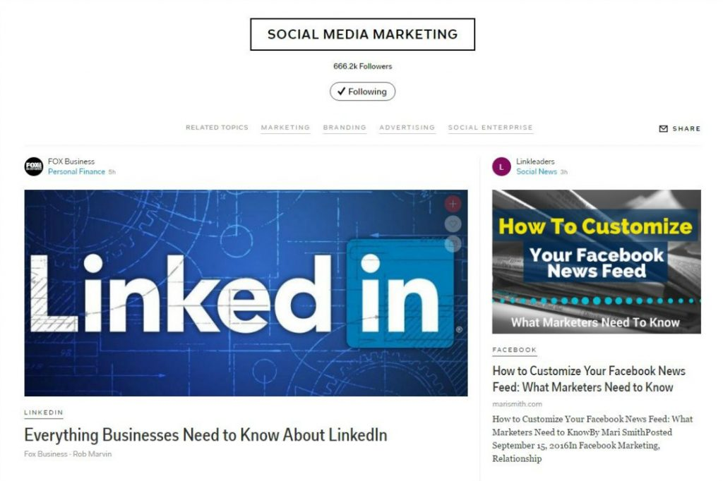 Social Media Marketing Topic on Flipboard