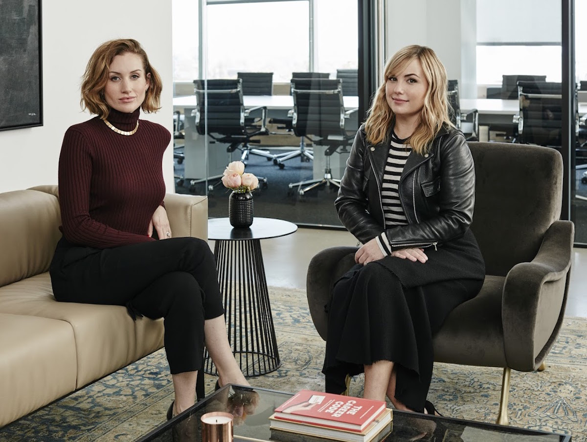 Katherine Power, left, and Hillary Kerr of Clique Media Group