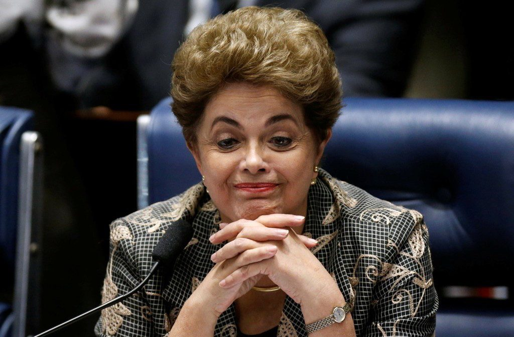 Brazil's suspended President Dilma Rousseff attends the final session of debate and voting at her impeachment trial in Brasilia. REUTERS/Ueslei Marcelino