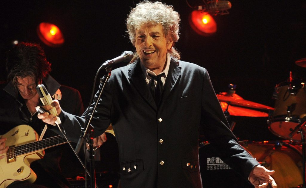 In this Jan. 12, 2012, file photo, Bob Dylan performs in Los Angeles. AP Photo/Chris Pizzello, File