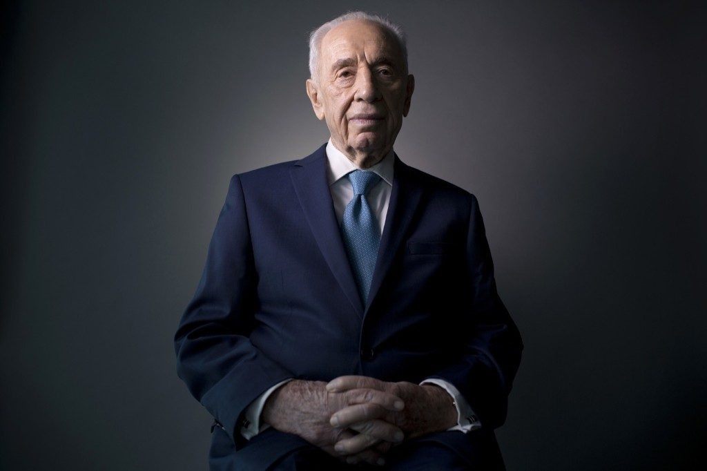 Shimon Peres, Feb. 8, 2016. AP Photo/Oded Balilty