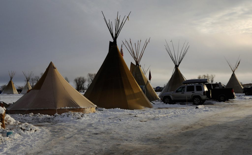 Demonstrations continue against plans to pass the Dakota Access pipeline near the Standing Rock Indian Reservation, near Cannon Ball, North Dakota, U.S., December 3, 2016. REUTERS/Lucas Jackson