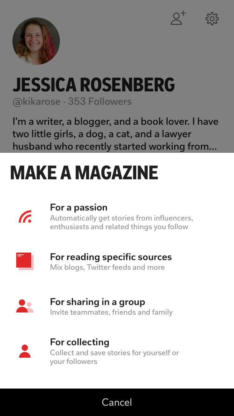 Creating a Flipboard Magazine