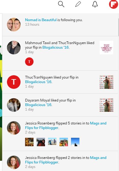 Notifications on Flipboard