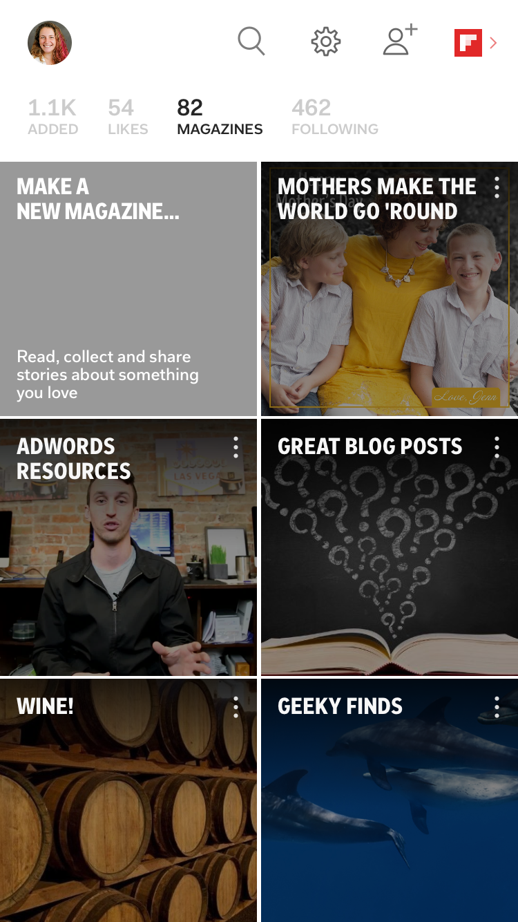 Flipboard Magazines created by blogger