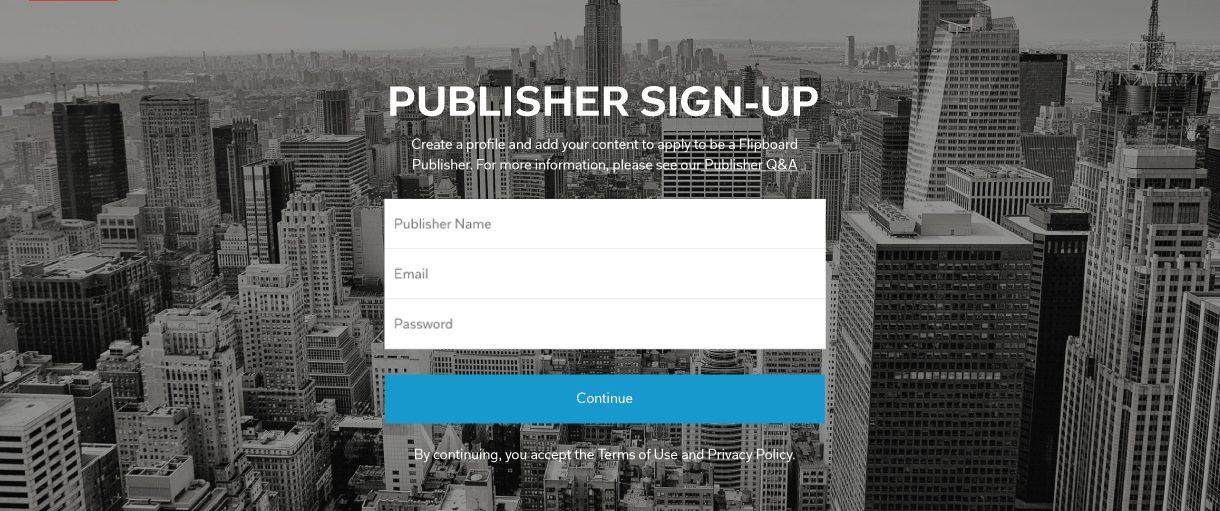 New Flipboard Publisher Portal