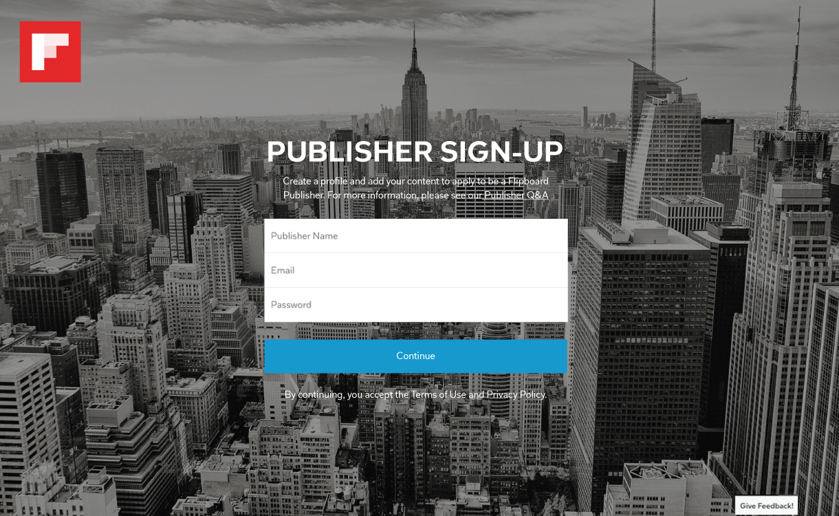 New Flipboard Publisher Portal