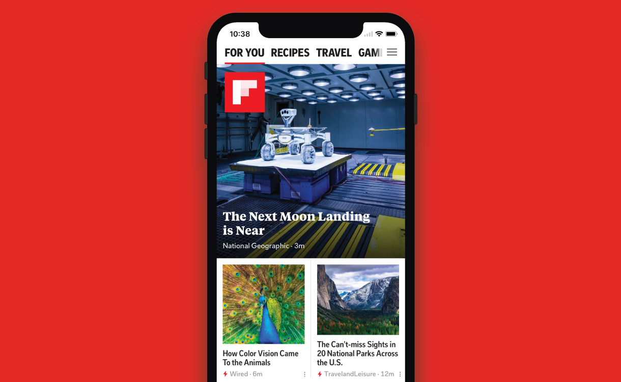 Flipboard is beautiful on the Apple iPhone X