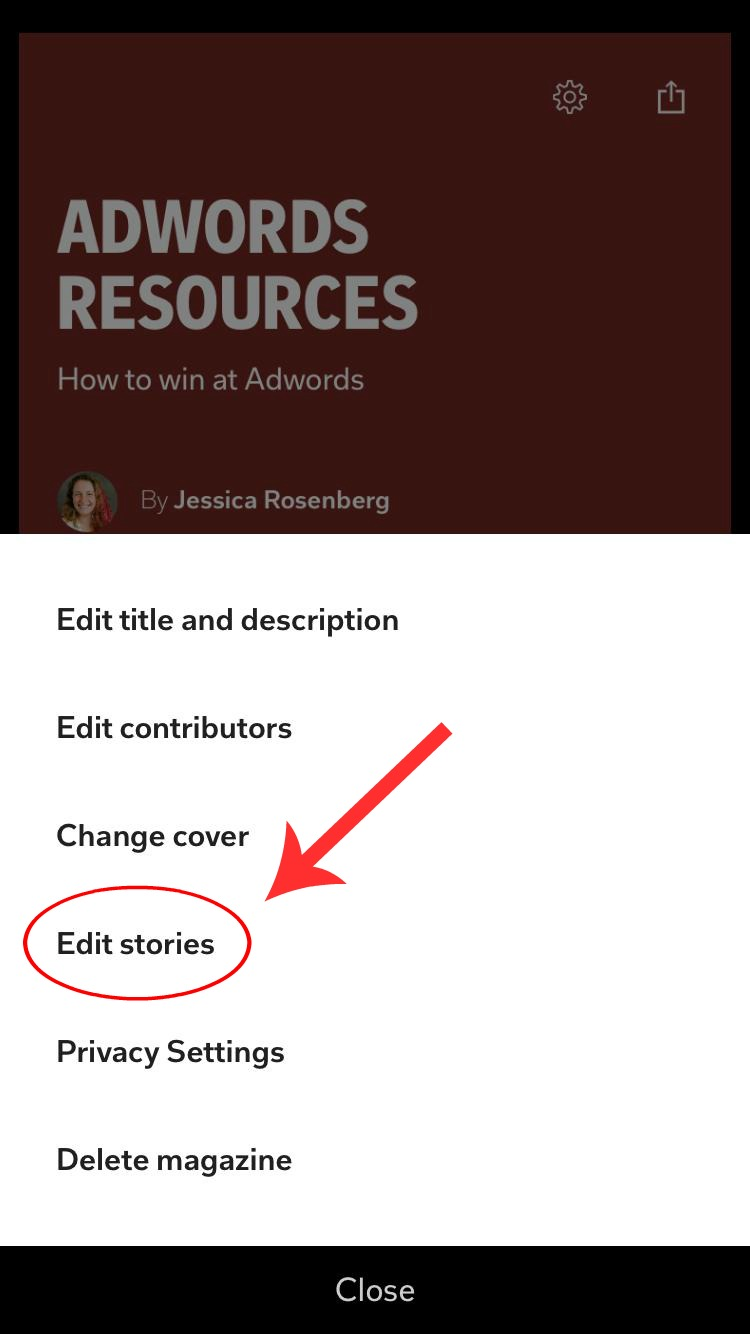 Edit Magazines in Flipboard