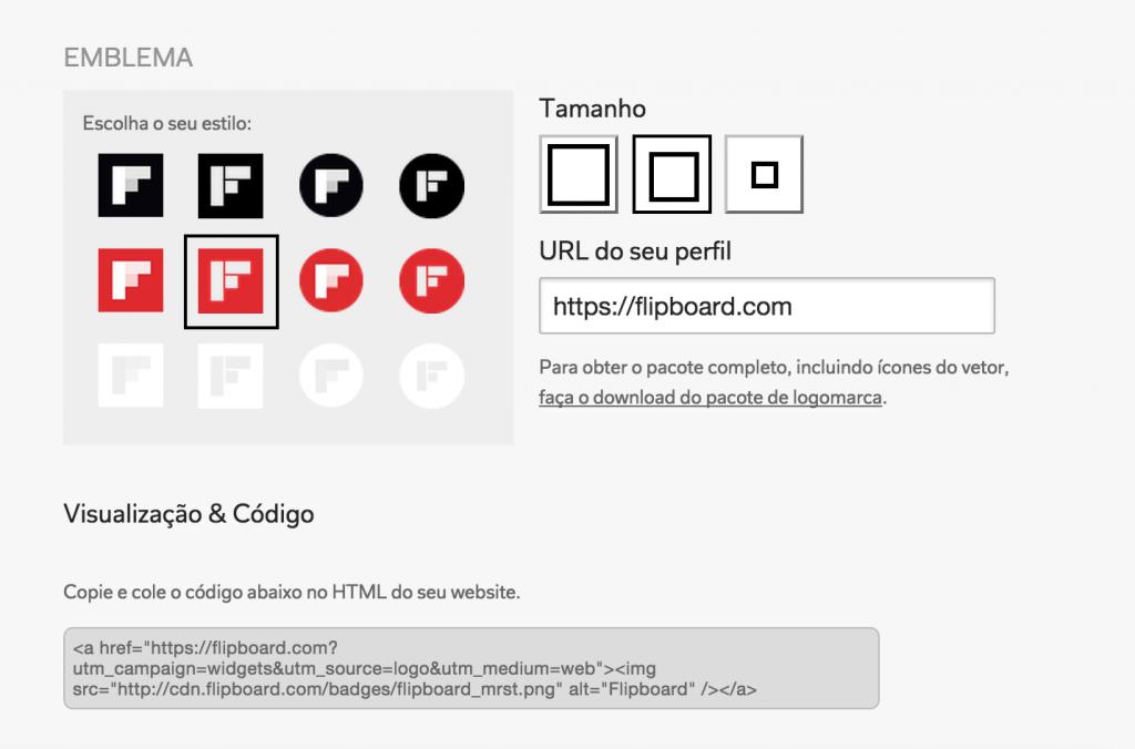 URL do perfil