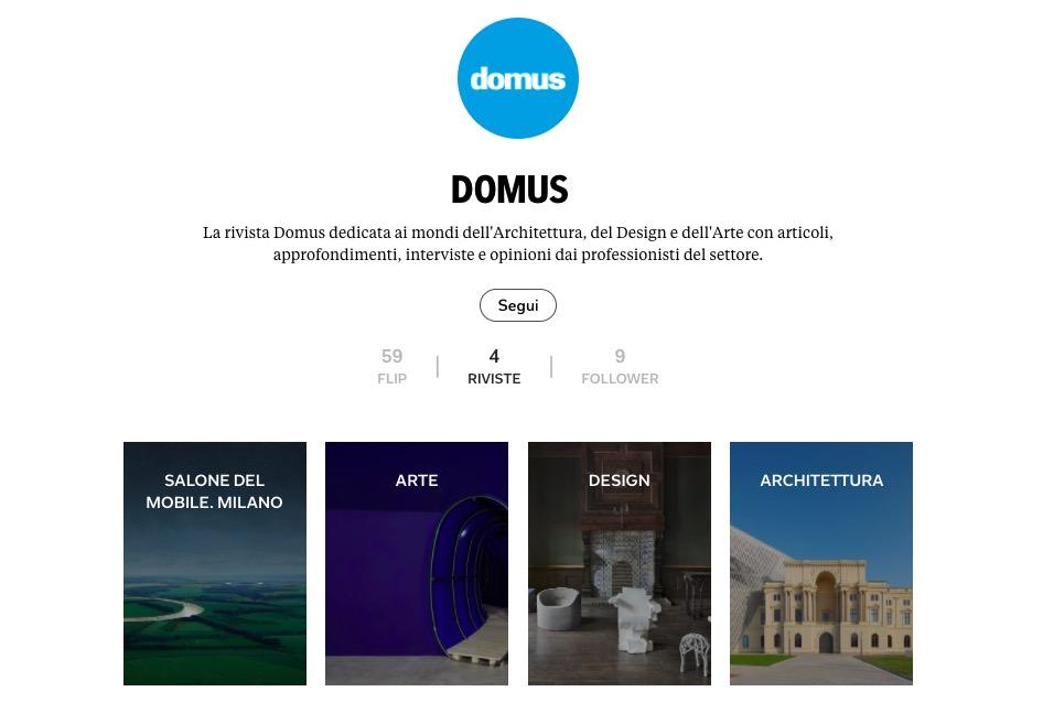 Leggi Domus su Flipboard